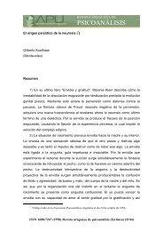 PSICOANÁLISIS - Asociación Psicoanalítica del Uruguay