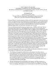 new york state senate - New York State Association of Metropolitan ...