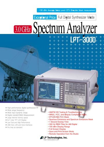 FULL PRODUCT SPECIFICATIONS (.pdf) - LP Technologies