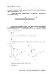 Dilatação Térmica de Sólidos - UFSM