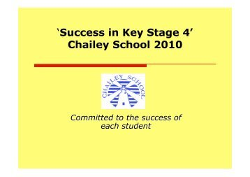 Success in KS4 - Chailey School