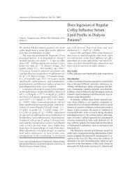 Does Ingestion of Regular Coffee Influence Serum Lipid Profile in ...