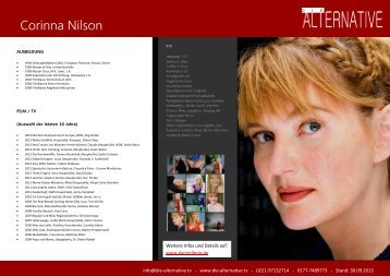 Corinna Nilson - Die Alternative