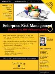 enterprise risk management - IBC Euroforum