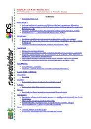 NEWSLETTER n.69 febbraio 2013 - Osservatorio per le Politiche ...