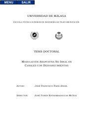 UNIVERSIDAD DE M´ALAGA TESIS DOCTORAL