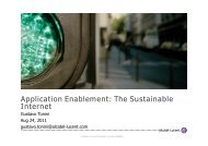 Application Enablement: The Sustainable Internet - CICOMRA