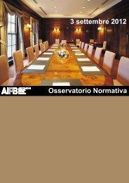 Osservatorio Normativa 3 settembre 2012 - Strumentiperassociazioni.it