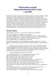 Výroční zpráva 2005 - Fakulta elektrotechnická