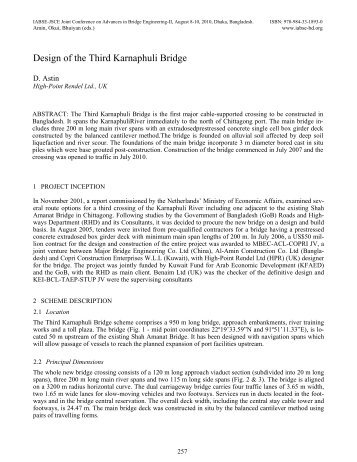 Design of the Third Karnaphuli Bridge D. Astin - Bangladesh Group ...
