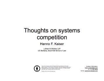 Presentation - American Antitrust Institute