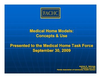 Medical Home Models - The Family Network on Disabilities of Florida