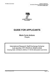 GUIDE FOR APPLICANTS