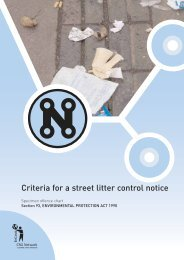 Criteria for a street litter control notice - Keep Britain Tidy