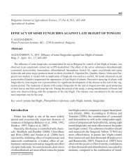 See the article as a PDF - Bulgarian Journal of Agricultural Science
