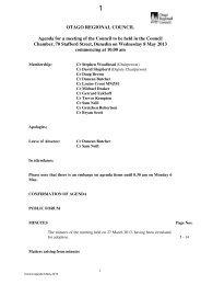 Council 8 May 2013 - Otago Regional Council