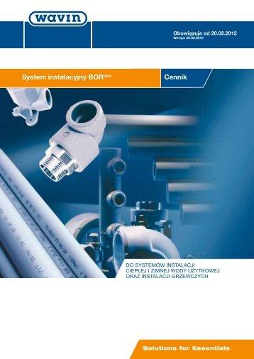 System instalacyjny BORplus Cennik - hydraulikasklep.pl