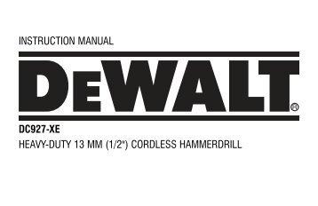 Australia - New Zealand - Service - DeWALT