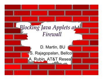 Blocking Java Applets at the Firewall