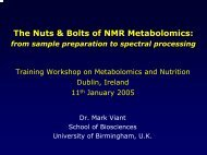 The Nuts & Bolts of NMR Metabolomics: - Academic lab pages ...