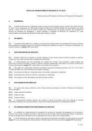 EDITAL DE CREDENCIAMENTO UNIVERSAL Nº 0001/2006 - Ammoc