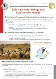Rôle et place de l'élevage dans l'espace ouest africain - CILSS