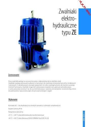 Zwalniaki elektros hydrauliczne typu ZE - Cantoni Group