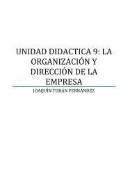 UNIDAD DIDACTICA 9: LA ORGANIZACIÓN Y ... - Ecobachillerato