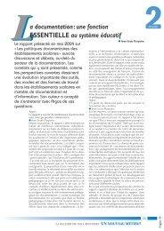 Argos 36 article 11 - La documentation : une fonction essentielle au ...