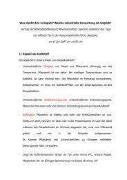 Vortrag der Biokraftstoffberatung Rheinland-Pfalz/ Saarland ... - BDOel