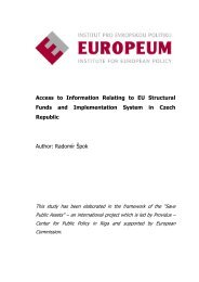 Access to Information Relating to EU Structural Funds and ...