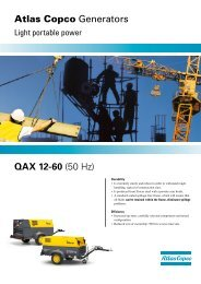 QAX 12-60 (50 Hz) Atlas Copco Generators - Ramirent