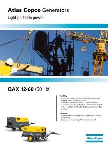 QAX 12-60 (50 Hz) Atlas Copco Generators - Ramirent