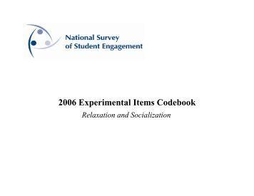 NSSE 2006 beta item_REL