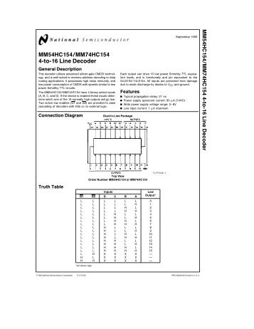 MM74HC154 4-to-16 Line Decoder - Engineering Electronics Shop