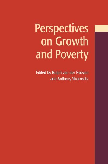 Perspectives on growth and poverty - United Nations University