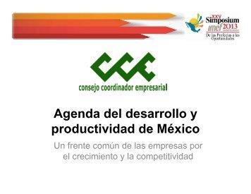 Agenda del desarrollo y productividad de México - IMEF