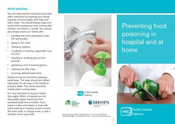 Preventing food poisoning in hospital and at home - Belfast Health ...