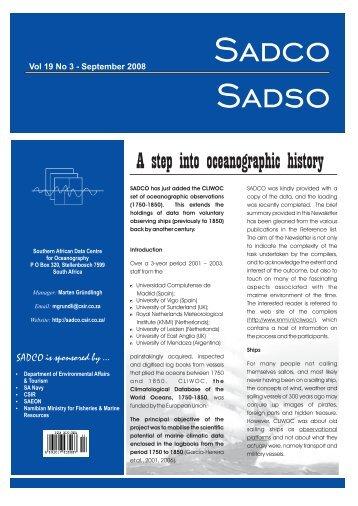 Vol. 19 No. 3 - sadco - CSIR