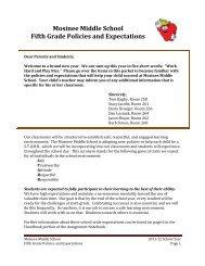 Policies and Procedures - Mosinee School District