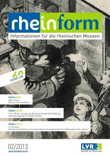 Ausgabe 02/2013 (PDF, 7,46 MB) - rheinform - Landschaftsverband ...