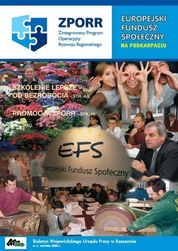 Biuletyn Europejski Fundusz Społeczny na Podkarpaciu nr 4 ...