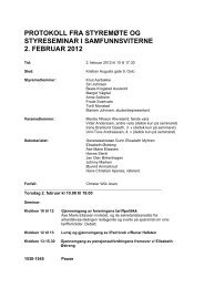 protokoll fra styremøte og styreseminar i samfunnsviterne 2. februar ...
