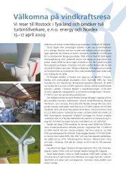 Välkomna på vindkraftsresa - Sero