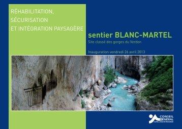 sentier BLANC-MARTEL - Conseil Général des Alpes de Haute ...