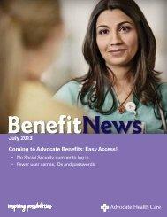 July 2013 - Advocate Benefits