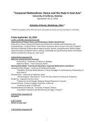full agenda - Institute of East Asian Studies, UC Berkeley - University ...