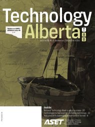 Technology Alberta nov-dec.06 - ASET