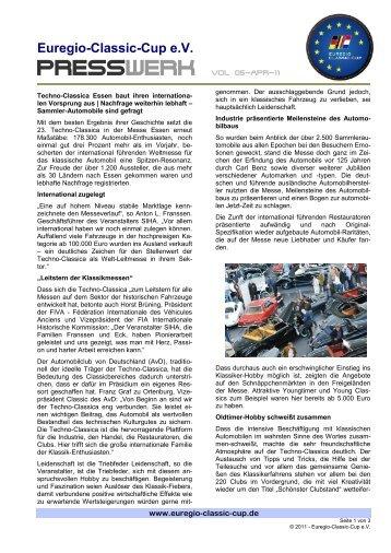 PRESSWERK Vol 05-APR-11 - Euregio-Classic-Cup