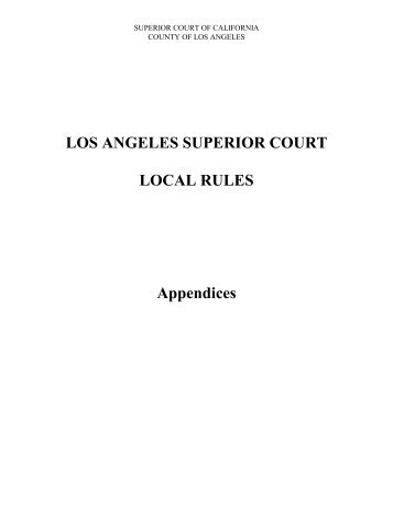 Appendix 2.B - Superior Court of California - County of Los Angeles